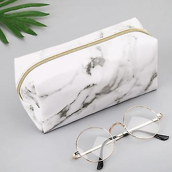 Large Cute Pencil Case, Pen, Box Zipper, Marble Makeup Storage Bags