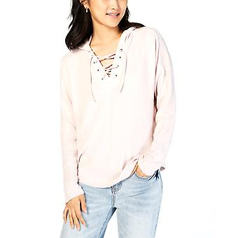 Hippie Rose | Velvet Lace-Up Hooded Top