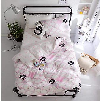 Baby Bedding Sæt til, Cartoon Soft Bomuld Crib Bed