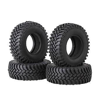 100mm OD Black Rubber Tyre Tire w/ Sponge for RC1:10 Class Rock Crawler Set of 4