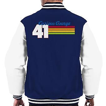 Neugierige George 41 Race Stripes Männer's Varsity Jacke