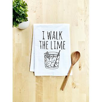 I Walk The Lime Dish Handtuch