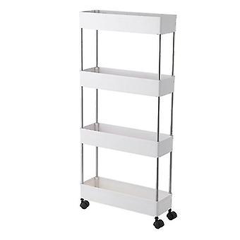 Konyhai tároló rack kosár, fürdőszoba polcok, mozgatható WC Storage Rack,