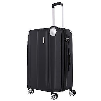 Travelite City Trolley M, 4 rollos, 68 cm, 78 L, Negro