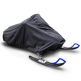 Protective Cover, Outdoor Dust Cover, Uv Protection Snowmobile Cover Waterproof Snowproof Oxford Fabric, Black, 293 * 130 * 121cm