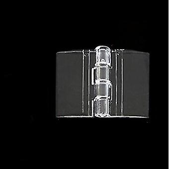 Charnières pliantes en plastique transparentes de 10 pc