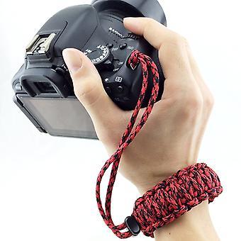 DIY Weave Style Anti-lost Kleurrijke Polsband Grip Emergency Survival Armband voor DSLR / SLR Camera's, Random Color Delivery