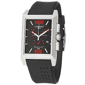 Locman Men's Sport Black Dial Watch - 242BKRD1BK