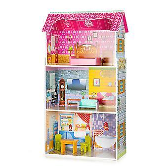 Grande maison de poupée en bois + meubles ECOTOYS