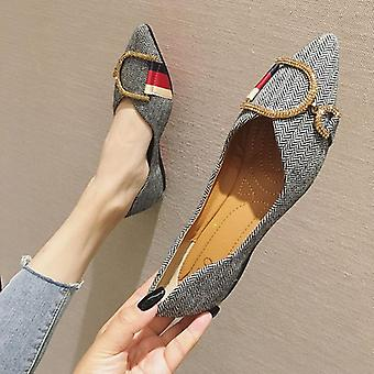 Ladies Flat Casual Shoes Woman & Comfortable Pointed Toe Flat Shoes