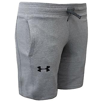 Under Armour Boys Threadborne Junior Shorts Grey Casual Loung Pants 1306150 035
