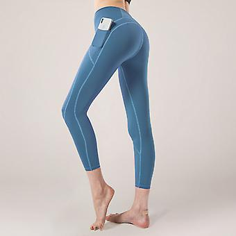 Women's nude stitching yoga pantalones Q15