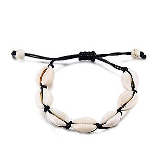 Shell Anklets, Handmade Leather Woven Natural Foot Jewelry, Bracelet On Leg