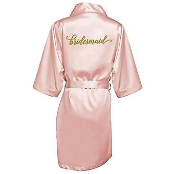Sexy Burgund Robe Braut Kimono Satin Robe Frauen Bademantel Hochzeit Robe
