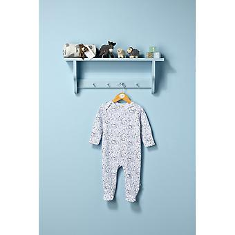 The Essential One Unisex Baby Sleepsuit With Bunny & Bear Print