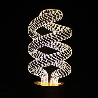 Lampe led spirale d'illusion d'optique