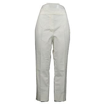 Dennis Basso Women's Pants Bi-Stretch Pull-On Crop White A351953