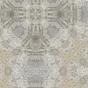 Tapete impresso multicolorido de ruínas arqueológicas em poliéster, algodão, L80xP200 cm