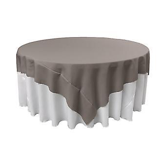 La Leinen Polyester Poplin Quadrat Tischdecke, 72 von 72-Zoll, dunkelgrau