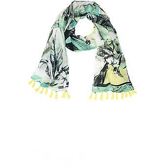 Olsen Pistachio Tropical Print Scarf