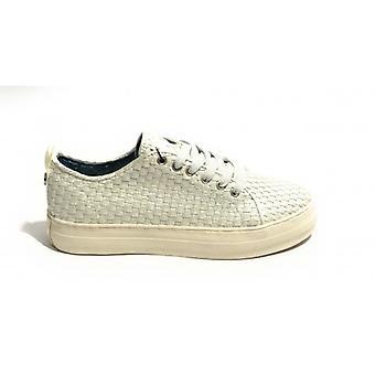 Sneaker Vrouw Us Polo Mod. Koningin geweven in geweven faux lederen kleur wit Ds19up02