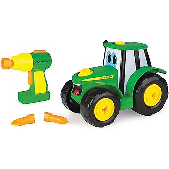 DZK Deere Build A Johnny Tractor | 16 Piece Building Farm Toy Car | Tractor Toy