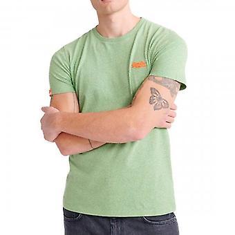 Superdry OL Vintage Brodé T-Shirt Shamrock Green Grit OQ8