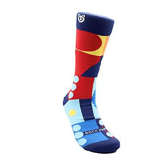 Fun Abstract Geometric Pattern Socks