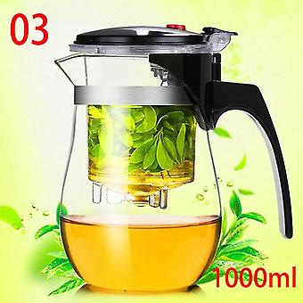 Heat Resistant Teapot Chinese Kung Fu Tea Set Puer Kettle Coffee Glass Maker