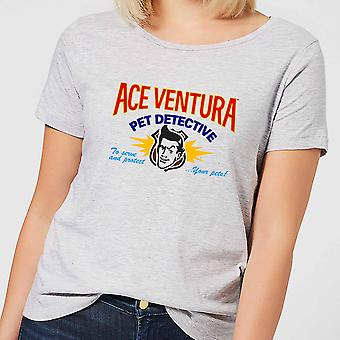 Ace Ventura Serve And Protect Your Pets Women's Short Sleeve T-Shirt - Grey