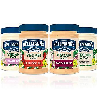 Mayonnaise végétalienne hellmann's à base de plantes avec un goût et des saveurs crémeux riches, 270g