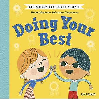 Big Words for Little People Doing Your Best by Helen Mortimer