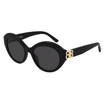 Balenciaga BB0133S 001 Black/Grey Sunglasses