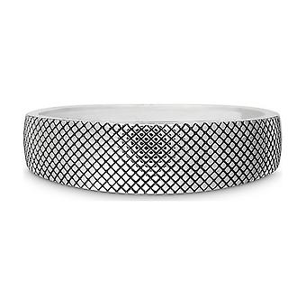 Quinn - Sølv armbånd med hengsel, delvis oksidert, Tri_Plets - 0291250