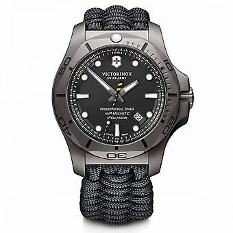 Relógio Victorinox I.N.O.X. masculino em paracord preto - 43 mm
