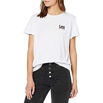 Lee Logo Tee T-Shirt, Vit (Vit Vit 14), X-Liten Kvinna