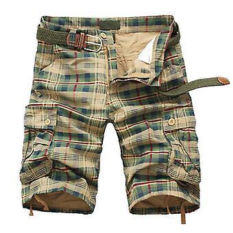 Män Shorts Fashion Plaid Beach Shorts Mens Casual Camo Kamouflage Shorts