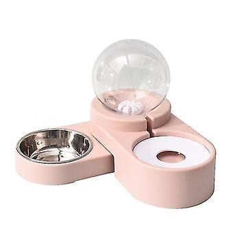 الوردي 1.8l نافورة الطعام السيارات للمياه شرب وعاء واحد كبير تغذية حاوية az6508