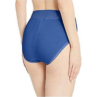 Wacoal Women's Subtle Beauty Hi Cut Brief Panty, deep Ultramarine, XL