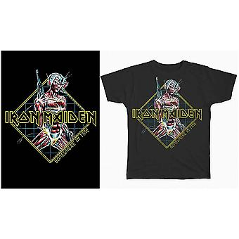 Iron Maiden - Någonstans i tiden Diamond Mäns Stora T-Shirt - Svart