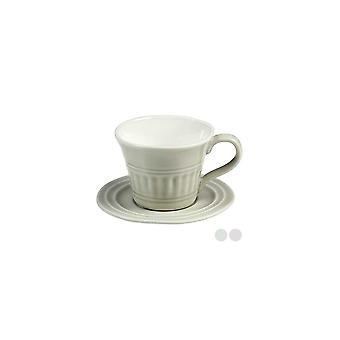 Cup With Plate Porcelain (10 X 8 X 6 Cm)