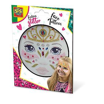 SES CREATIVE Princess Fashion Temporary Glitter Face Tattoos