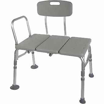 Drive Medical Bath Transfer Bench drive 17-1/2 to 21-1/2 Inch Height Range 400 lbs. Weight Capacity Arm Rail, 1 Each