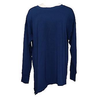 Cuddl Duds Femme Plus Top Ultra Soft Confort Asymétrique Ourlet Bleu A302312