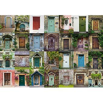 Schmidt Collage av dörrar pussel (1500 stycken)