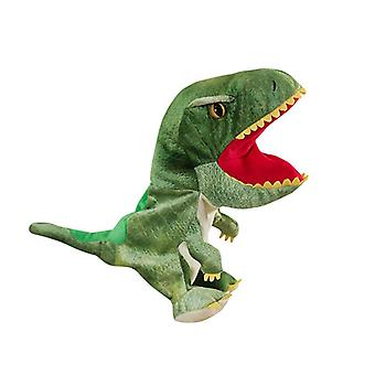 Pelúcia Hand Puppets Dinosaur Toy Mouth Home Interactive Kids Adults Stuffed Puppets Props