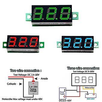Mini digital voltmeter voltage tester meter 0.28 inch 2.5v-30v led screen electronic parts accessories digital voltmeter