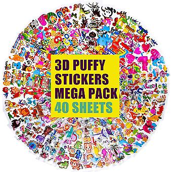 3D-Kinderaufkleber 1200+ geschwollene Aufkleber für Kinder Bulk-Aufkleber für Scrapbooking, Lehrer,
