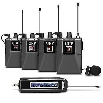 اللاسلكية Lavalier ميكروفون UHF Lapel ميكروفون