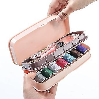 Домашний малый швейный комплект пластиковая игла и коробка инструмента резьбы